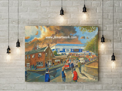 starks park going to the match canvas a2 size